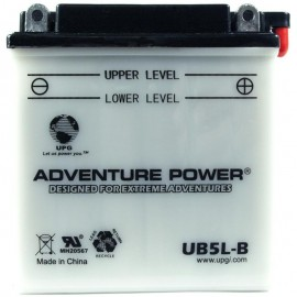Adventure Power UB5L-B (YB5L-B) (12V, 5AH) Motorcycle Battery