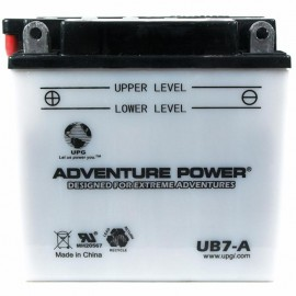 Adventure Power UB7-A (YB7-A) (12V, 8AH) Motorcycle Battery