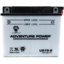 Adventure Power UB7B-B (YB7B-B) (12V, 7AH) Motorcycle Battery
