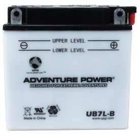Adventure Power UB7L-B (YB7L-B) (12V, 8AH) Motorcycle Battery