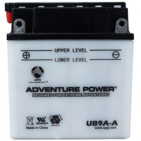 Adventure Power UB9A-A (YB9A-A) (12V, 9AH) Motorcycle Battery