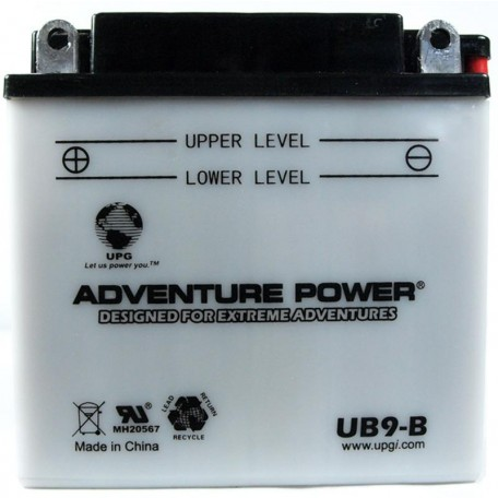 Adventure Power UB9-B (YB9-B) (12V, 9AH) Motorcycle Battery