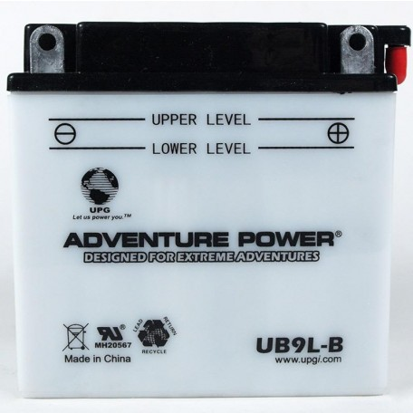 Adventure Power UB9L-B (YB9L-B) (12V, 9AH) Motorcycle Battery