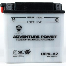 Adventure Power UB9L-A2 (YB9L-A2) (12V, 9AH) Motorcycle Battery