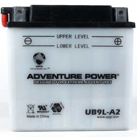 Adventure Power UB9L-A2 (YB9L-A2) (12V, 9AH) Motorcycle Battery