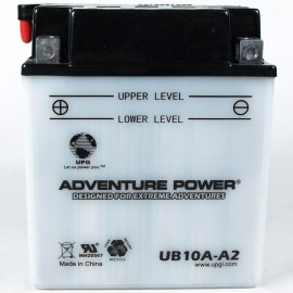 Adventure Power UB10A-A2 (YB10A-A2) (12V, 11AH) Motorcycle Battery