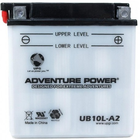 Adventure Power UB10L-A2 (YB10L-A2) (12V, 11AH) Motorcycle Battery