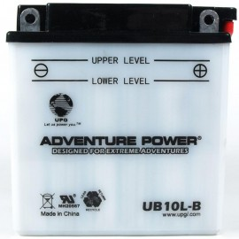 Adventure Power UB10L-B (YB10L-B) (12V, 11AH) Motorcycle Battery