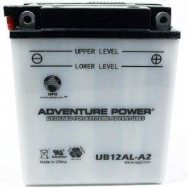 Adventure Power UB12AL-A2 (YB12AL-A2) (12V, 12AH) Motorcycle Battery