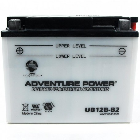 Adventure Power UB12B-B2 (YB12B-B2) (12V, 12AH) Motorcycle Battery
