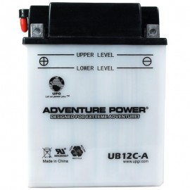 Adventure Power UB12C-A (YB12C-A) (12V, 12AH) Motorcycle Battery