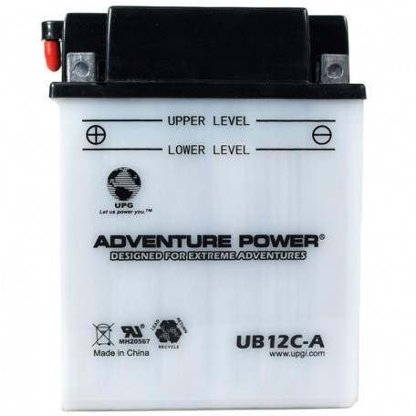 Adventure Power UB12C-A (YB12C-A) (12V, 12AH) Motorcycle Battery