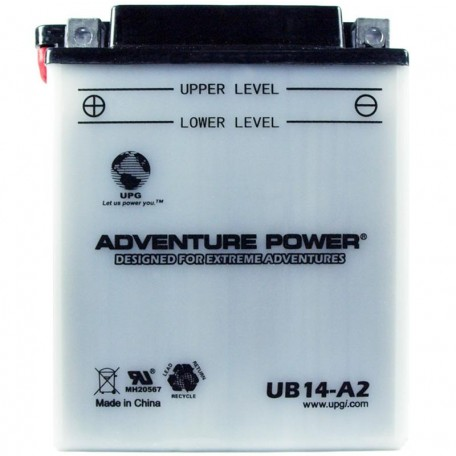 Adventure Power UB14-A2 (YB14-A2) (12V, 14AH) Motorcycle Battery