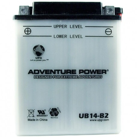 Adventure Power UB14-B2 (YB14-B2) (12V, 14AH) Motorcycle Battery