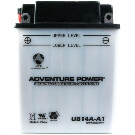 Adventure Power UB14A-A1 (YB14A-A1) (12V, 14AH) Motorcycle Battery