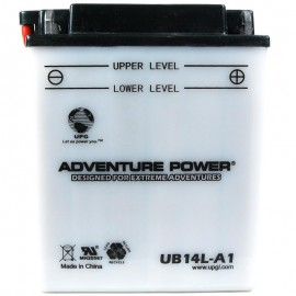 Adventure Power UB14L-A1 (YB14L-A1) (12V, 14AH) Motorcycle Battery