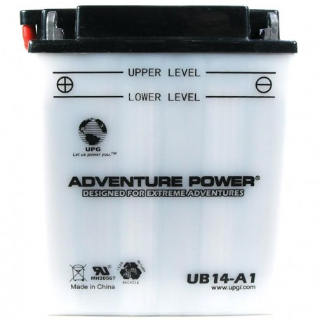 Adventure Power UB14-A1 (YB14-A1) (12V, 14AH) Motorcycle Battery