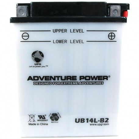 Adventure Power UB14L-B2 (YB14L-B2) (12V, 14AH) Motorcycle Battery
