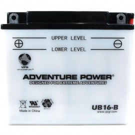 Adventure Power UB16-B (YB16-B) (12V, 19AH) Motorcycle Battery