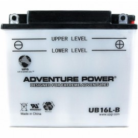 Adventure Power UB16L-B (YB16L-B) (12V, 19AH) Motorcycle Battery