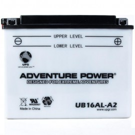 Adventure Power UB16AL-A2 (YB16AL-A2) (12V, 16AH) Motorcycle Battery