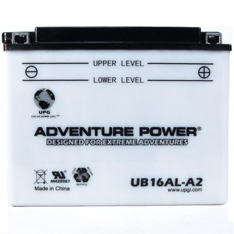 Yamaha BTY-YB16A-LA-20 Conventional Motorcycle Replacement Battery