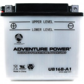 Adventure Power UB16B-A1 (YB16B-A1) (12V, 16AH) Motorcycle Battery