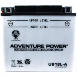 Adventure Power UB18L-A (YB18L-A) (12V, 18AH) Motorcycle Battery