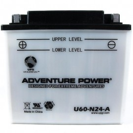 Adventure Power U60-N24-A (Y60-N24-A) (12V, 28AH) Motorcycle Battery