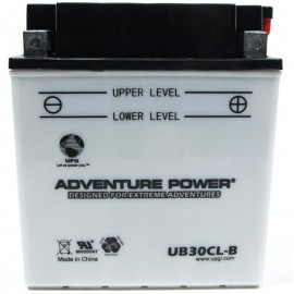 Adventure Power UB30CL-B (YB30CL-B) (12V, 30AH) Motorcycle Battery