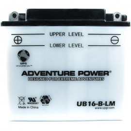 Adventure Power UB16-B-LM (YB16-B-CX) (12V, 19AH) Motorcycle Battery