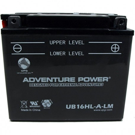 Adventure Power UB16HL-A-LM (YB16HL-A-CX) (12V, 19AH) Motorcycle Battery