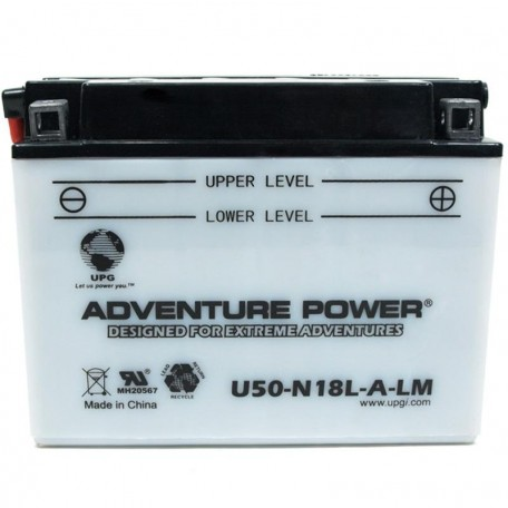 Adventure Power U50-N18L-A-LM (Y50-N18L-A-CX) Motorcycle Battery