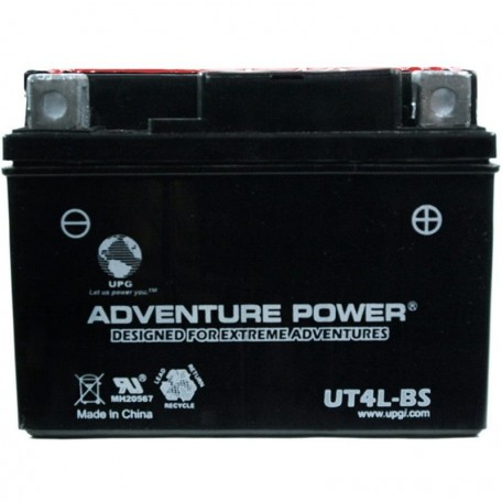 Adventure Power UT4L-BS (YB4L-B) (12V, 4AH) Motorcycle Battery