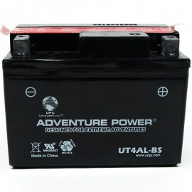 Adventure Power UT4AL-BS (YB4L-A) (12V, 4AH) Motorcycle Battery