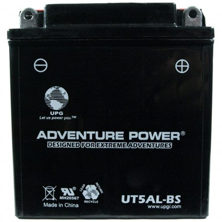 Adventure Power UT5AL-BS (YB5L-B) (12V, 5AH) Motorcycle Battery