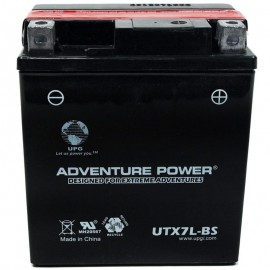 Adventure Power UTX7L-BS (YTX7L-BS) (12V, 6AH) Motorcycle Battery