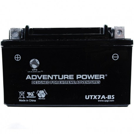 Adventure Power UTX7A-BS (YTX7A-BS) (12V, 6AH) Motorcycle Battery