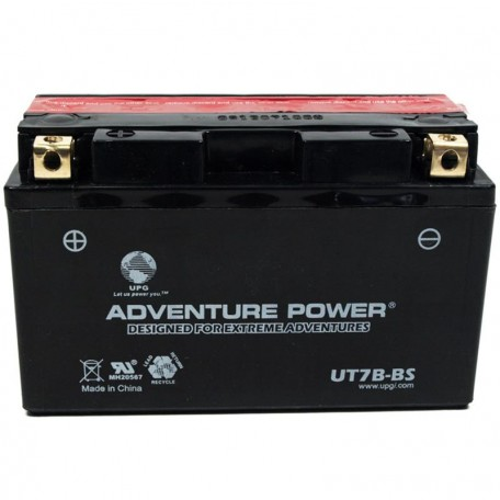 Adventure Power UT7B-BS (YT7B-BS) (12V, 6.5AH) Motorcycle Battery