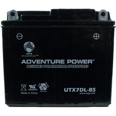 Adventure Power UTX7DL-BS (12N7A-4 or YB7B-B) Motorcycle Battery