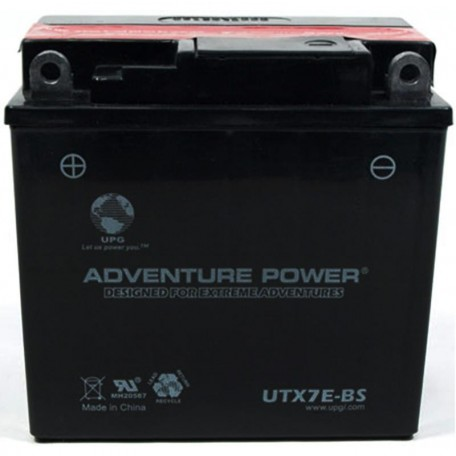 Adventure Power UTX7E-BS (YB7-A) (12V, 7AH) Motorcycle Battery