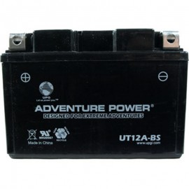 Adventure Power UT12A-BS (YT12A-BS) (12V, 9.5AH) Motorcycle Battery