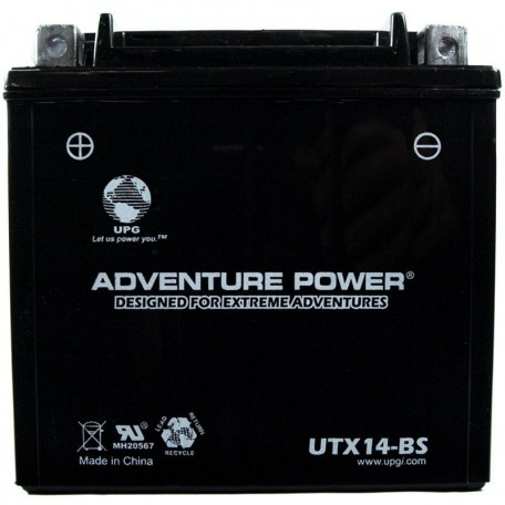 Kawasaki KMX14-BS Dry AGM ATV Replacement Battery