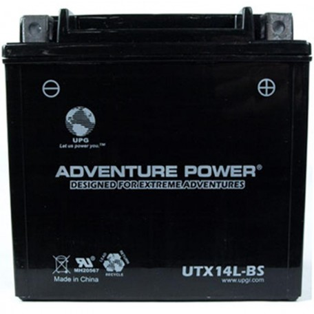 Adventure Power UTX14L-BS (YTX14L-BS) (12V, 12AH) Motorcycle Battery