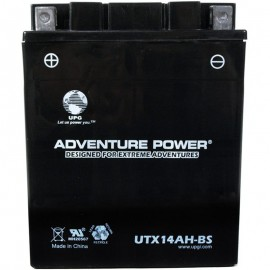 UTX14AH-BS (YTX14AH-BS) (12V, 12AH) Motorcycle ATV Battery Dry