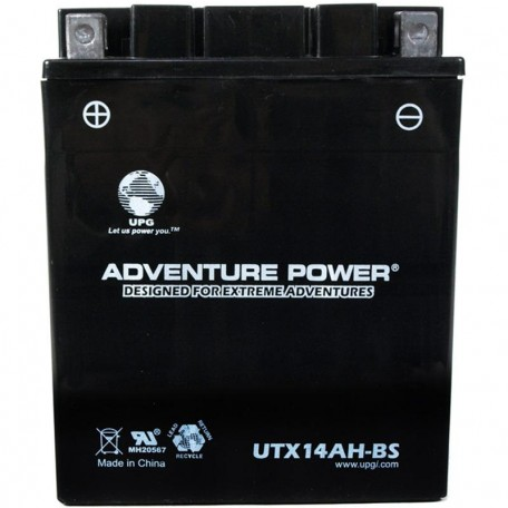 Adventure Power UTX14AH-BS (YTX14AH-BS) (12V, 12AH) Motorcycle Battery