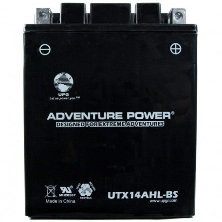 Adventure Power UTX14AHL-BS (YTX14AHL-BS) (12V, 12AH) Motorcycle Battery