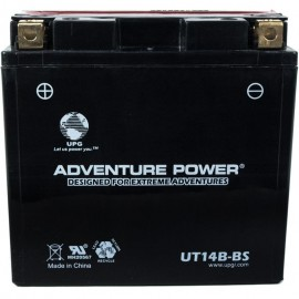 Adventure Power UT14B-BS (YT14B-BS) (12V, 12AH) Motorcycle Battery
