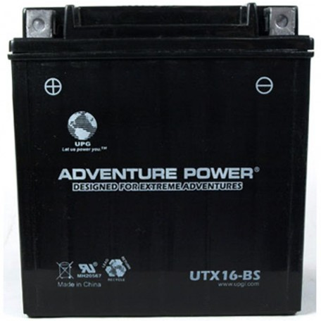 Adventure Power UTX16-BS (YTX16-BS) (12V, 14AH) Motorcycle Battery