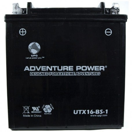 Adventure Power UTX16-BS-1 (YTX16-BS-1) (12V, 14AH) Motorcycle Battery